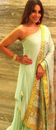 Bipasha Basu Singh Grover in our one shoulder contemporary sharara