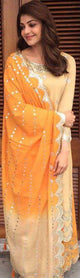Kajal Aggarwal in our the colors of the horizon plazo set