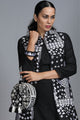 Neo phulkari black and white canteen bag