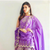 Kirti Sanon in our purple embroidered sharara set