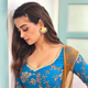 Surveen Chawla in our Blue printed anarkali