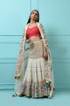 Multicolour embroidered skirt set