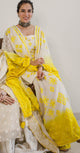 Urmi Daga  in our white and yellow sharara set