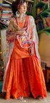 Sherry shroff in our phulkari fire sharara set