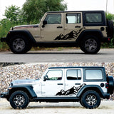 Snowy Mountain Decal For Jeep Wrangler - Set of 2 - Sticker It Out and More