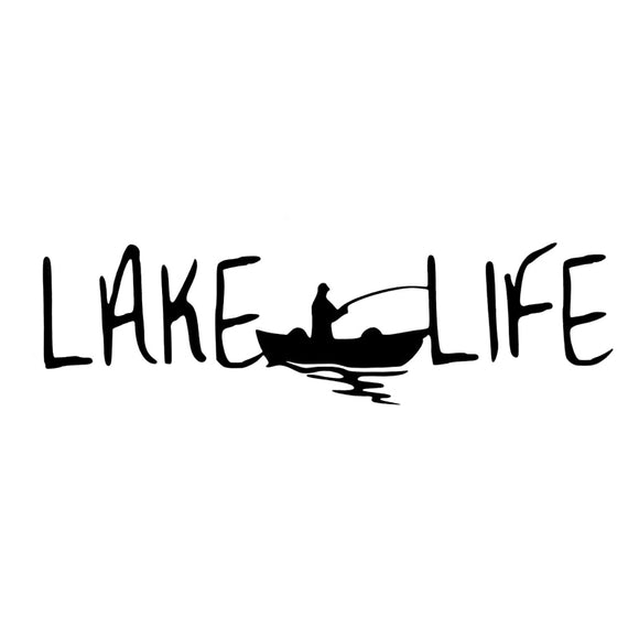 Lake Life - Simple Decal - Sticker It Out and More