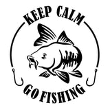 Keep Calm and Go Fishing Decal - Sticker It Out and More