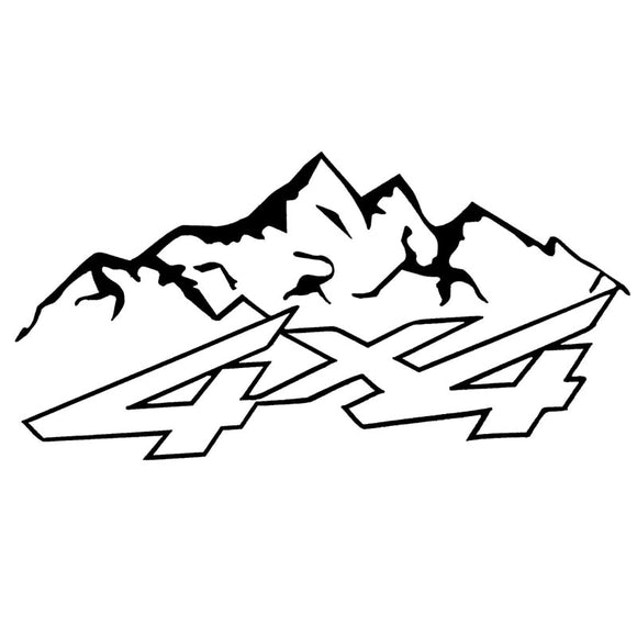 4X4 Mountain Decal - Sticker It Out and More