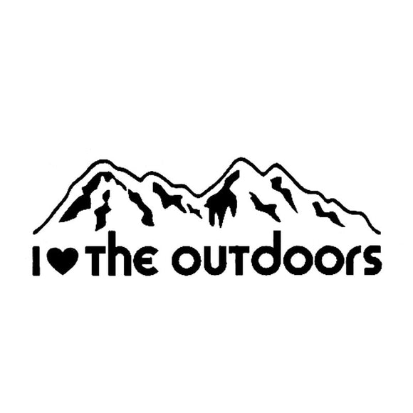 I ❤️The Outdoors Decal - Sticker It Out and More