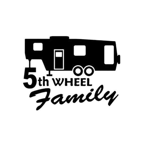 5th Wheel Family Decal - Sticker It Out and More