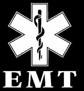 EMT Star of Life Decal - Sticker It Out and More