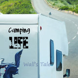 Camping Life Decal - Sticker It Out and More