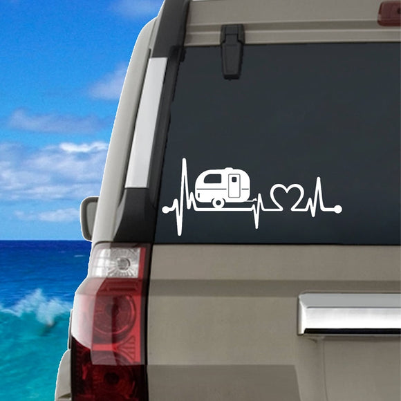 Heartbeat of Camping Life Decal - Sticker It Out and More