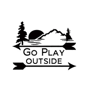 Go Play Outside Decal - Sticker It Out and More
