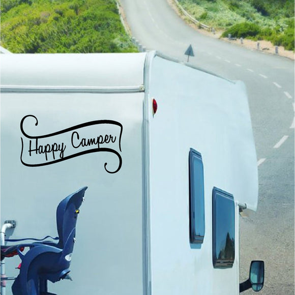 Happy Camper Simple Decal - Sticker It Out and More