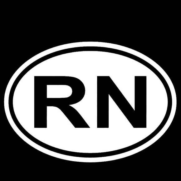 RN-Nurse Oval Decal - Sticker It Out and More