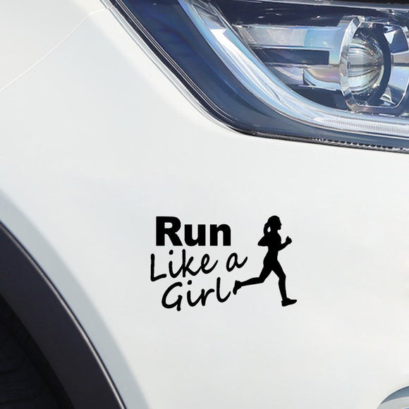 Run Like A Girl Decal - Sticker It Out and More