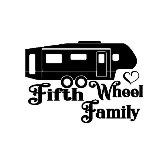 Fifth Wheel Family Decal - Sticker It Out and More