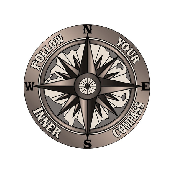 Follow Your Inner Compass Decal - Sticker It Out and More