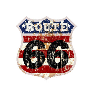 Route 66 American Flag Decal - Sticker It Out and More