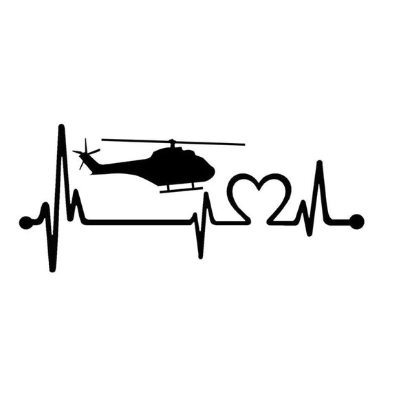 Air Ambulance Heartbeat Decal - Sticker It Out and More