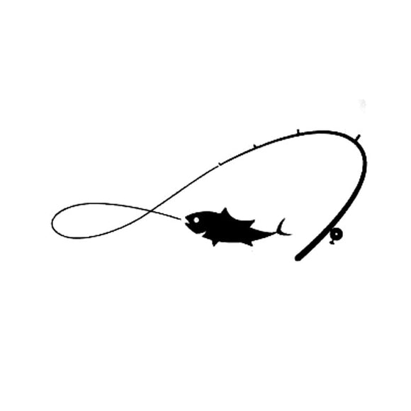 Almost Infinite Fishing Decal - Sticker It Out and More