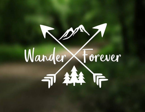 Wander Forever Decal - Sticker It Out and More