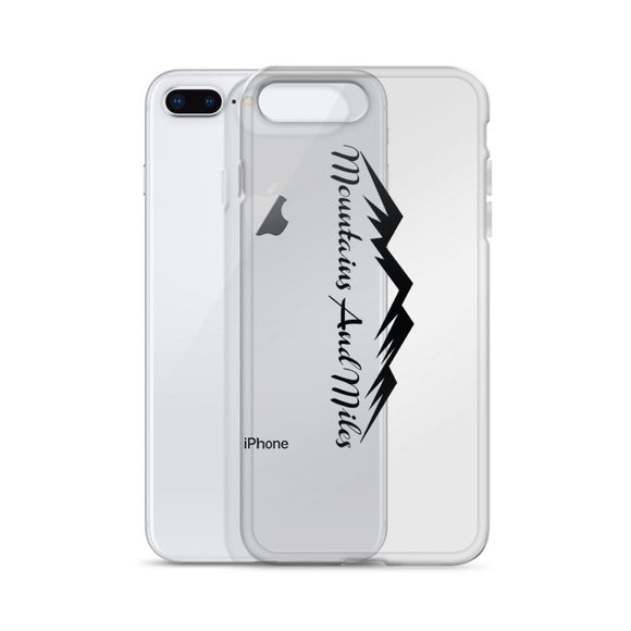 Mountains and Miles iPhone Cover - Black Graphic - Sticker It Out and More