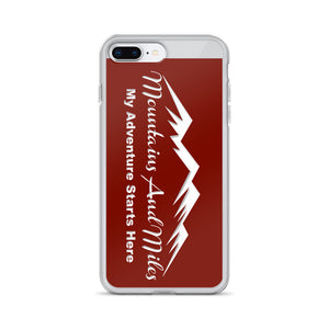Mountains and Miles iPhone Cover - RED - Special Edition - Sticker It Out and More