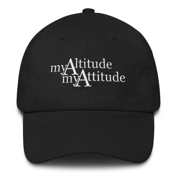 My Altitude - My Attitude Hat - White Logo - Sticker It Out and More