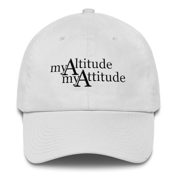My Altitude - My Attitude Hat - Black Logo - Sticker It Out and More