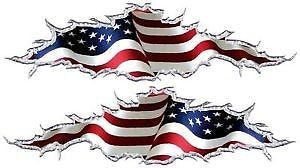 Bold American Flag Decals - Set of 2 - Sticker It Out and More