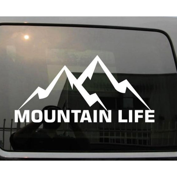 Mountain Life Decal - SuperSized - Sticker It Out and More