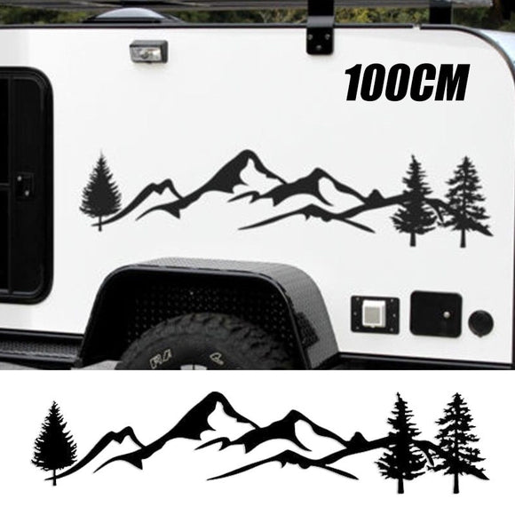Oversized Mountains Decal - SET OF 2 - Sticker It Out and More