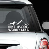 Hike More Worry Less Decal - Sticker It Out and More