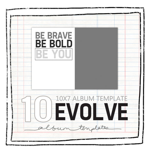 Album Templates- EVOLVE SENIOR MEMORY BOOK 10X7 FOR WHCC