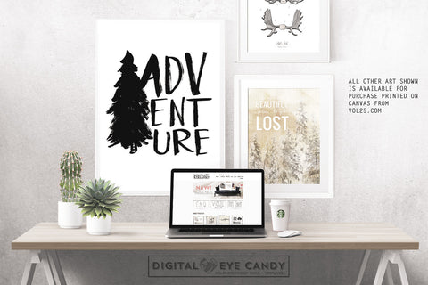 Adventure - Instant Download Printable Brush Script Art