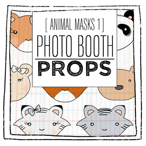 PRINTABLE PROPS- ANIMAL FACES FIRST EDITION
