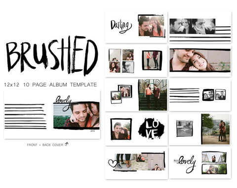 Album Templates- BRUSHED COLLECTION 12X12 FOR WHCC