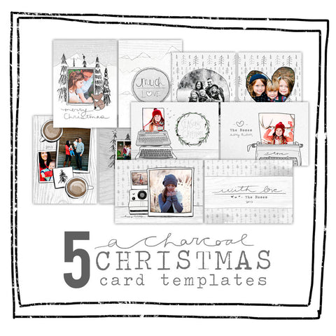 Card Template - CHARCOAL CHRISTMAS SAVER PACK