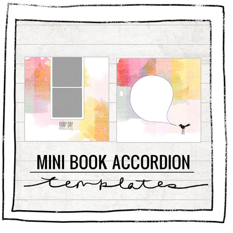Mini Book Templates- COLOR RAIN - ACCORDION FOR WHCC