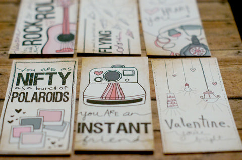FOLD AND SEAL- Printable Valentines Day Cards 2010