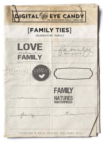 FAMILY TIES- OVERLAY SET
