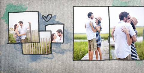 Album Templates- SALTWATER COLLECTION 12X12 FOR WHCC