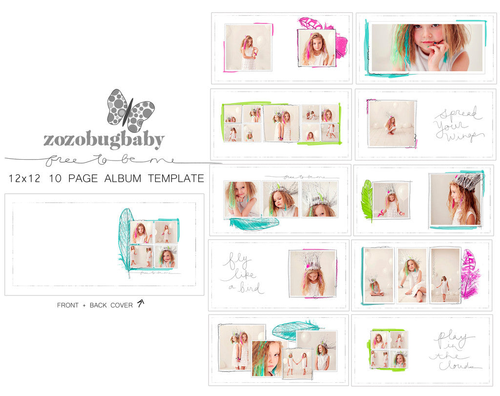 Nice Album Templates  FREE TO BE ME 12X12 FOR WHCC Intended Free Album Templates