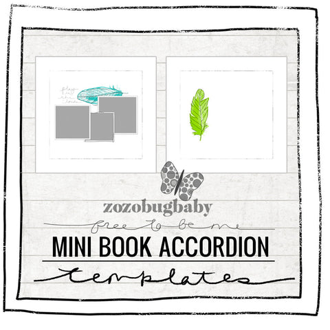 Mini Book Templates- FREE TO BE ME - ACCORDION FOR WHCC