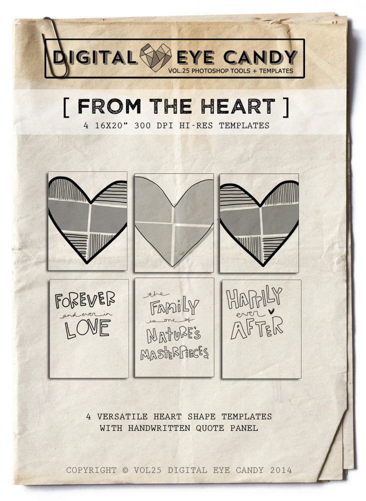 4 STORYBOARD TEMPLATES   FROM THE HEART 16X20