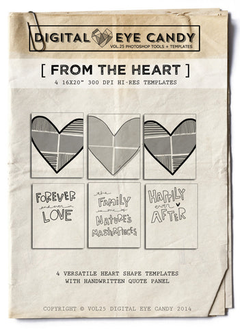 4 STORYBOARD TEMPLATES - FROM THE HEART 16X20