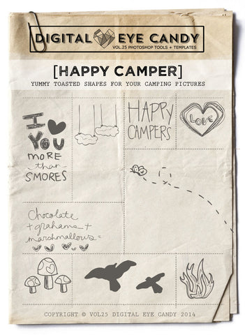 HAPPY CAMPER- OVERLAY SET