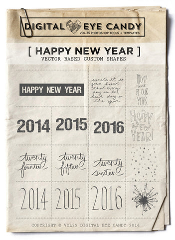 Happy New Year - OVERLAY SET